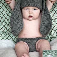 Bunny Hat And Diaper Cover Crochet .. on Luulla