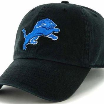 DCCKG8Q NFL Detroit Lions Black Clean Up Adjustable Hat