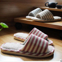 Home Sandals Quiet Korean Linen Cotton Linen Slippers [8102198721]