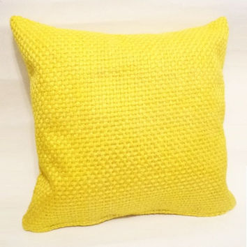 Mustard yellow cushion cover - throw pillow cover - 17 x 17 inches