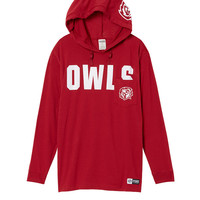 Temple University Campus Hoodie Tee - PINK - Victoria's Secret