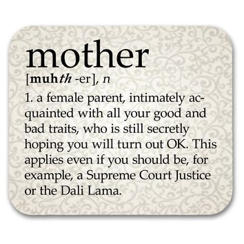 Mother Definition Mouse Pad Perfect Mother's Day Gift