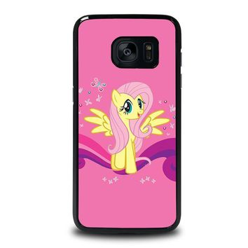 my little pony fluttershy samsung galaxy s7 edge case cover  number 1