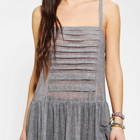 Lucca Couture Pleated Drop-Waist Tank Top