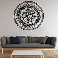 Mandala Wall Stickers Indian Round Pattern Symbol Vinyl Decal Namaste Yoga Art Decor Home Office GYM Dorm Club Dining Room Mural