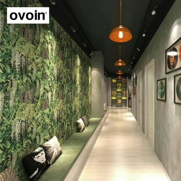 Green Nature Photo Wallpaper Roll 3d Background Modern Vinyl Wall Paper For Store Bar Booth Restaurant Backdrop Decoration