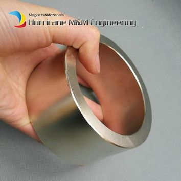 1 piece NdFeB Magnet Ring OD 100x80x50 (+/-0.1)mm Super Strong Neodymium Permanent Magnets Tube Rare Earth Magnets Grade N42