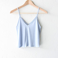 Knit Cropped V-neck Cami