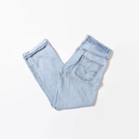 Vintage 80s LEVI'S Jeans / 1980s Faded Ripped Perfectly Broken In 501s