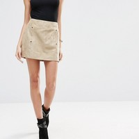 Shades of Grey Ultra Faux Suede Envelope Mini Skirt at asos.com