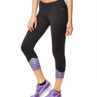LLD CRYSTAL ACCENT CROPPED LEGGINGS
