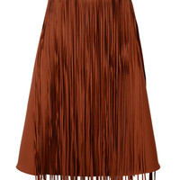 Brown Tassel Skater Skirt