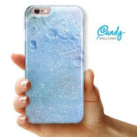 """The Light Blue Cratered Moon Surface iPhone 6 Plus or 6s Plus (5.5"""" iPhone) Ultra Gloss Candy Shell Case"""
