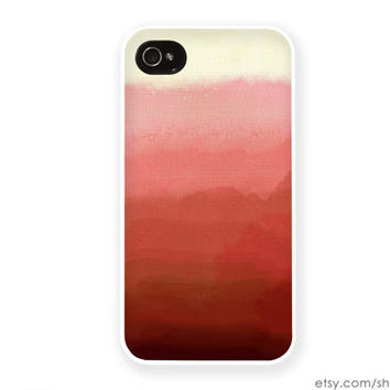 Coral iPhone Case / Coral Ombre iPhone 4 Case Blue iPhone 5S Case Coral Ombre iPhone 5 Case Moon iPhone 4S Case iPhone 5C Case Coral