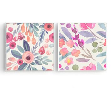 Flowers Plants 32.7'' Mural Painting