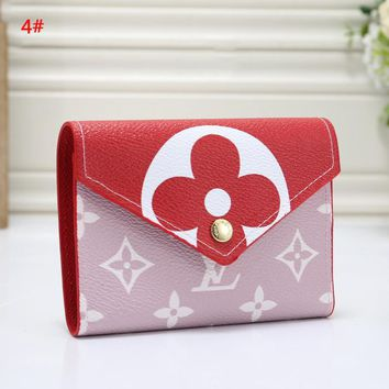 Louis Vuitton LV Women  Fashion New Monogram Print Wallet Purse 4#