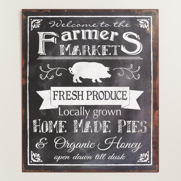 Metal Farmers Market Sign