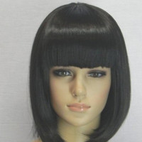 Short Black Cosplay Wig Anime Fashion Wig