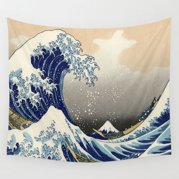 Great Wave Wall Tapestry by Rapplatt