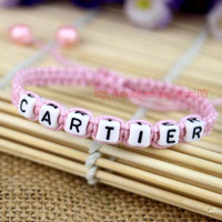 Lovely girl bracelets, Cartier bracelet, can be customized to other words
