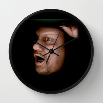 Help let me out! Wall Clock by Bruce Stanfield