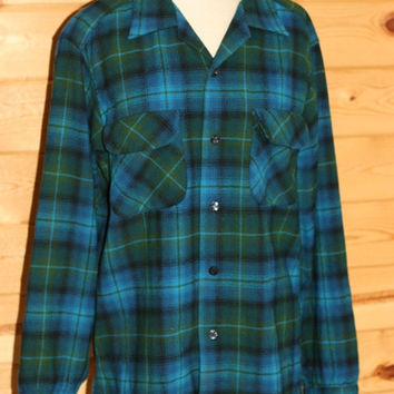 Vintage Pendleton Wool Shirt Plaid