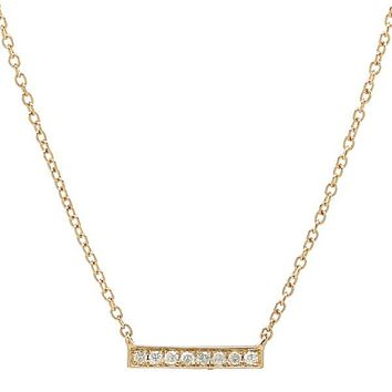 Diamonds Thin Bar Necklace