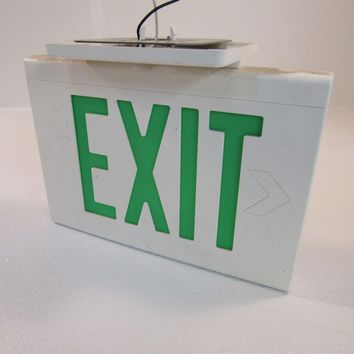 Hubbell Lighted Exit Sign 13in x 9in Single Side 13in x 9in LED LXUGWE -- Used