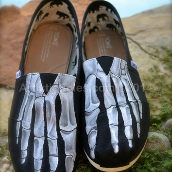 Skeleton Feet TOMS by Artistic Soles II