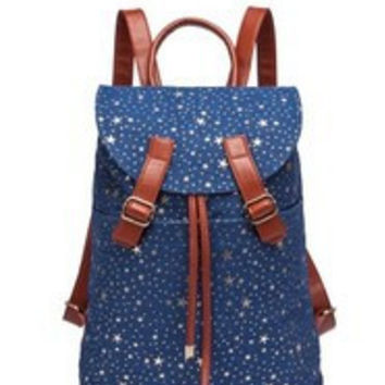 Star Canvas Backpack Travel Bag [6582162119]