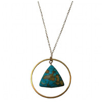 Geometric Triangle and Circle Necklace