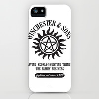 SUPERNATURAL WINCHESTER AND SONS iPhone & iPod Case by Thischarmingfan
