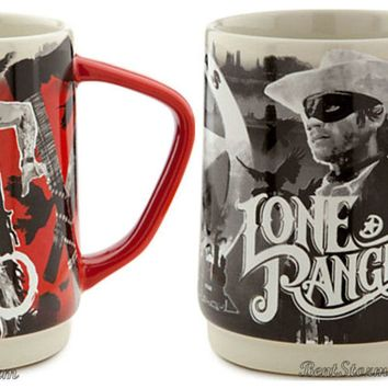 Licensed cool 2 Disney Store LONE RANGER & TONTO Movie Coffee Cup Mug Johnny Depp Armie Hammer