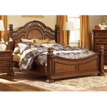Liberty Furniture Messina Estates Poster Bed in Cognac Finish