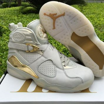 Nike Air Jordan 8 Retro ¡°Champagne¡±AJ8 Cheap Sale JD 8 Discount Men Sports Basketball