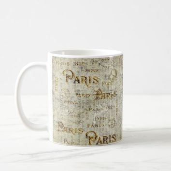Paris Postcard Old Vintage Paper Mail Coffee Mug