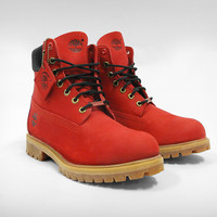 all red timberland boots - Google Search
