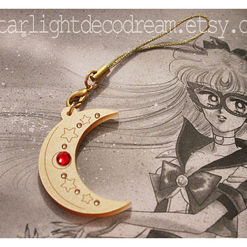 SAILOR V Crescent Sailor Moon Inspired Acrylic Phone Strap for Mahou Kei & Magical Girl Fashion