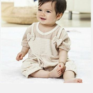 Short Sleeves Organic Colored Cotton Baby Clothes