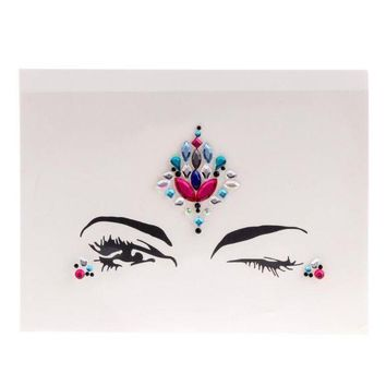 ac PEAPO2Q ZL09 Face Eye Jewel Acrylic Rhinestone Body Art Sticker Tattoo Party Performance  -W128