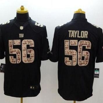 PEAPYD9 Nike Giants #56 Lawrence Taylor Black Men's Stitched NFL Limited Salute to Service Jer