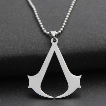 Game Assassins Creed Link Chain Necklaces for Men Stainless Steel Friendship Necklaces Male Neckless Women Jewelry Gift