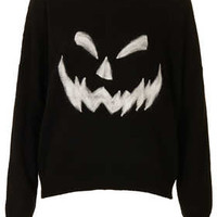 Knitted Pumpkin Face Jumper - Knitwear - New In This Week  - New In