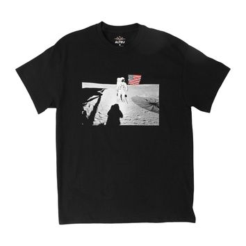 LIFE ON A MOON, black graphic tee by Altru Apparel