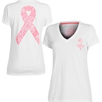 Under Armour Women's Charged Cotton PIP Ribbon V-Neck T-Shirt - Dick's Sporting Goods