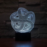 JC-2880 Amazing 3D Illusion led Table Lamp Night Light with  abstraction shape