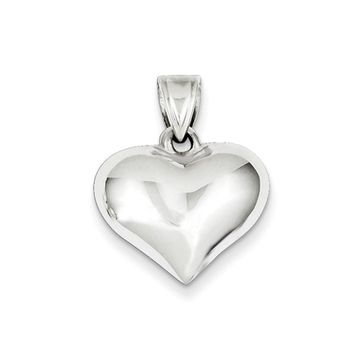 Sterling Silver 18mm Puffed Heart Pendant