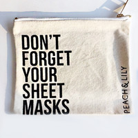 DON'T FORGET YOUR SHEET MASKS COSMETIC BAG