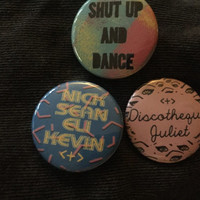 Walk the Moon Shut Up and Dance Button Set