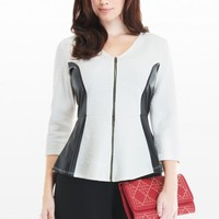 Plus Size Quilted Peplum Top | Fashion To Figure